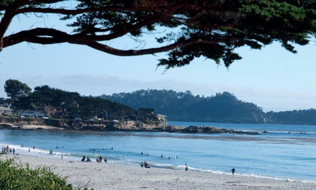 Carmel's beach area is famous for its white sands and pacific sunset. Photo by: Yoyo Chiang