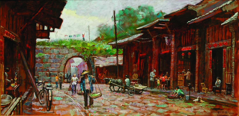 Old Street Old Ciy Gate by Nansheng Liu, 2006