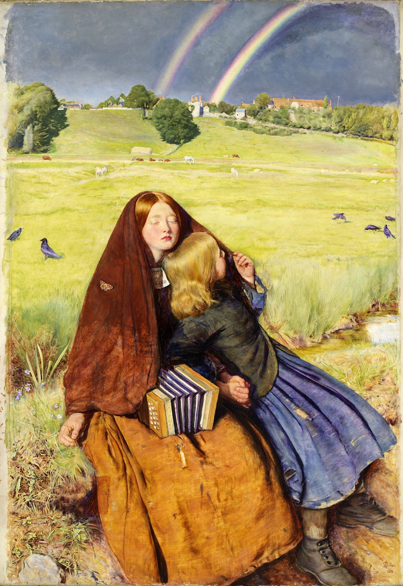 The-Blind-Girl -John-Everett-Millais-Pre-Raphaelite