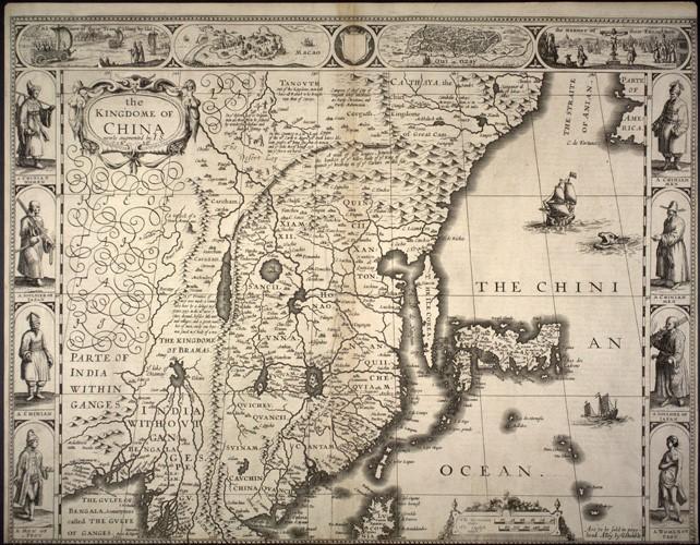 16th century Jesuit Map of China