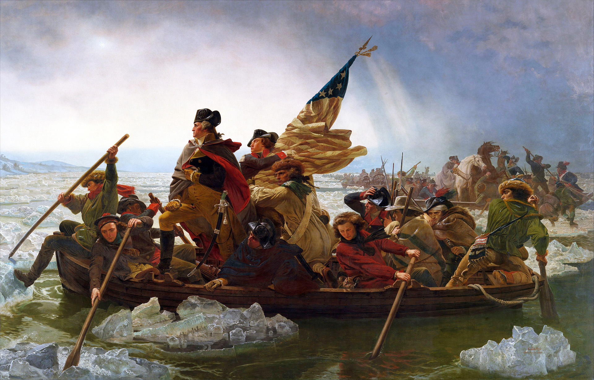 Washington Crossing the Delaware by Emanuel Leutze, 1851 @The Metropolitan Museum of Art