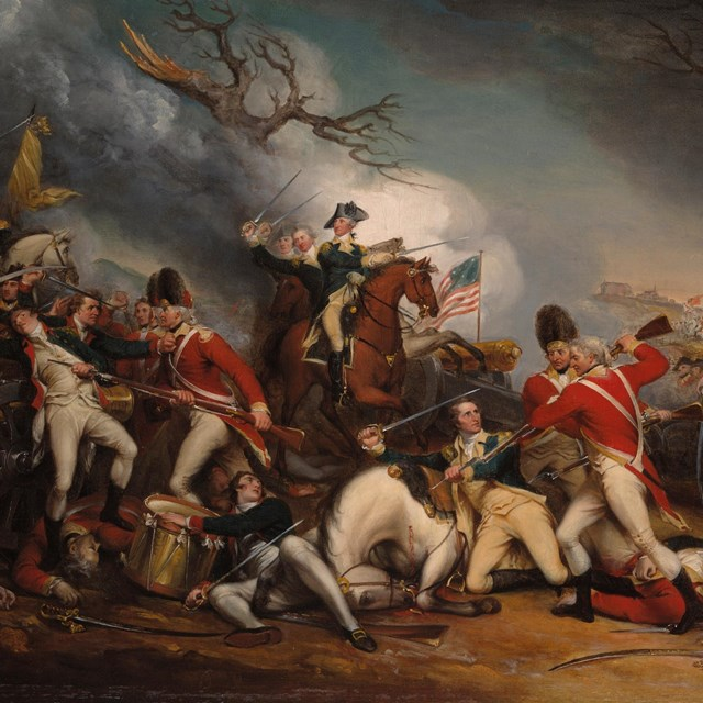 The Death of General Mercer at the Battle of Princeton, January 3, 1777.