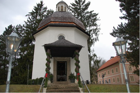 A house of prayer on the site of the former St. Nicholas Church.