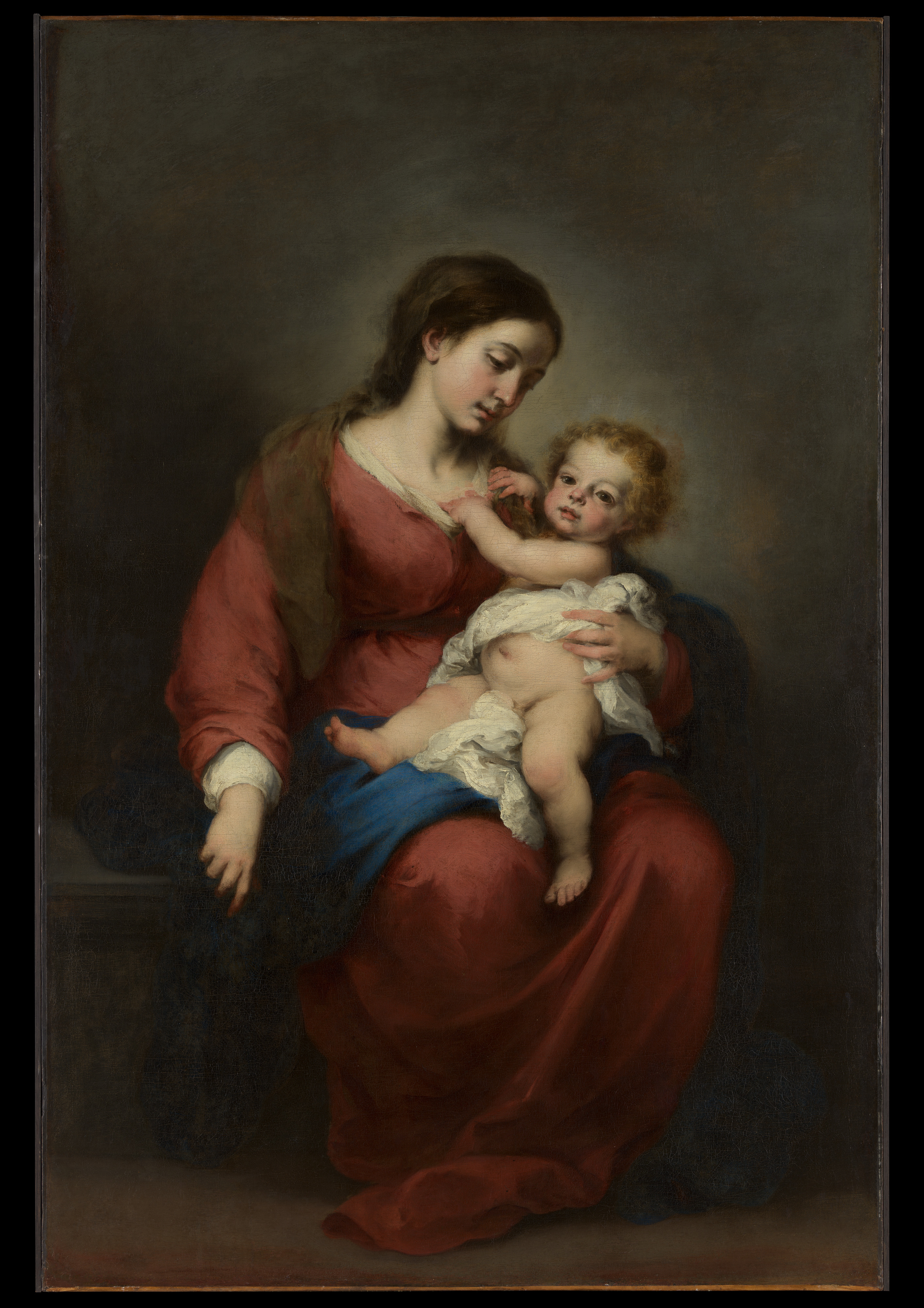 Virgin and Child, Bartolomé Estebán Murillo, ca. 1670–72, Spanish, Oil on canvas, Rogers Fund, 1943. (The Metropolitan Museum of Art) At the height of the Baroque era in the late 1600s, Bartolomé Esteban Murillo's charming paintings of ethereal, sacred images of icons helped create the vehicle towards the divine. His Rubenesque paintings, crafted with unparallelled skill, were coveted by royalty throughout Europe. He was one of the premiere artists in his day. The modest and charitable Murillo however, had spent a great deal of time invested in his hometown of Seville which had been ravaged by plague and starvation trying to help those in need. His paintings of orphaned children tried to awaken sympathy for the less fortunate. Unfortunately for Esteban Murillo himself, after the emergence of the Modernist art movements that swept through Western Europe, his paintings and the subject matter he portrayed fell so far out of fashion, that they had been mocked and denigraded by art critics and the public. His legacy had been buried and nearly forgotten along with thousands of other artists and their exquisite works.